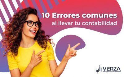 10 Errores comunes al llevar tu contabilidad